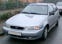 Second generation Daewoo Nexia 3-door hatchback.