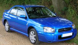 2005 Subaru Impreza GX Sport in WR Blue (UK)