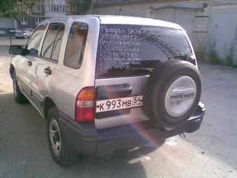 used 2000 chevrolet tracker photos, 2000cc., gasoline