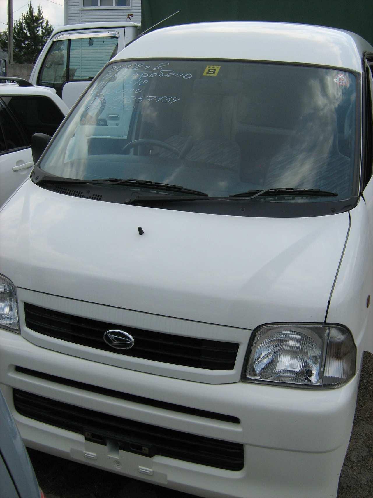 2002 Daihatsu Hijet Pictures 0 7l Gasoline Fr Or Rr