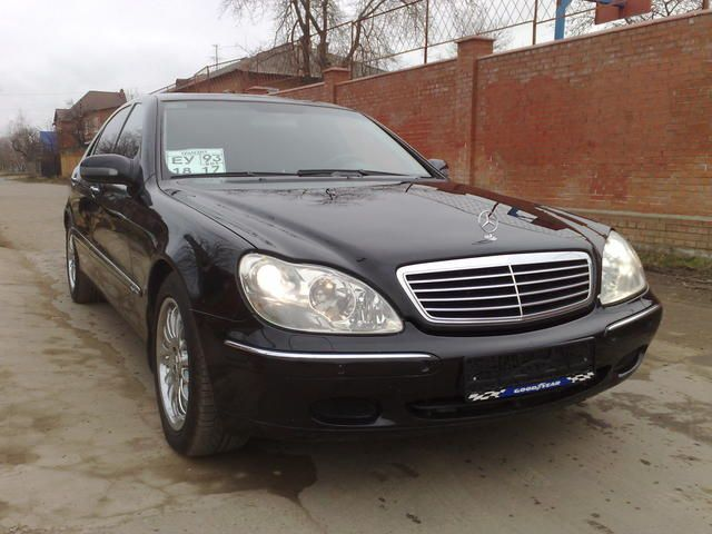 2001 mercedes benz s class pictures. Black Bedroom Furniture Sets. Home Design Ideas