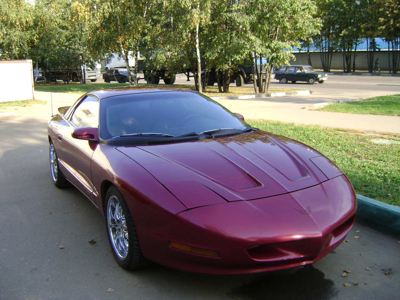 Pontiac Firebird A B Orig on 2002 Maroon Mercury Cougar