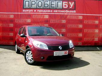 2010 renault sandero pics 1 6 gasoline ff automatic for sale. Black Bedroom Furniture Sets. Home Design Ideas