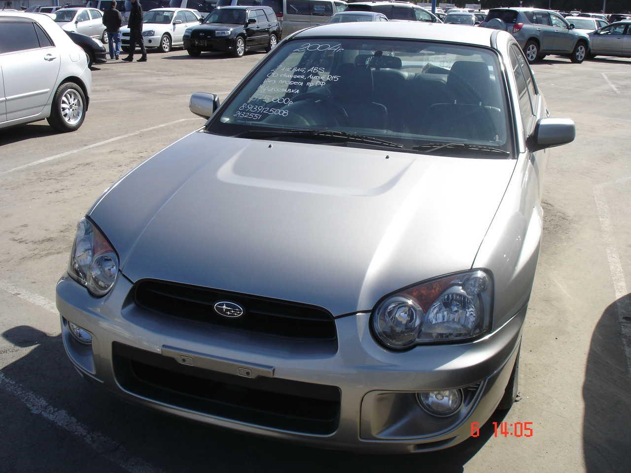 2004 Subaru Impreza Pictures 1600cc Gasoline Automatic