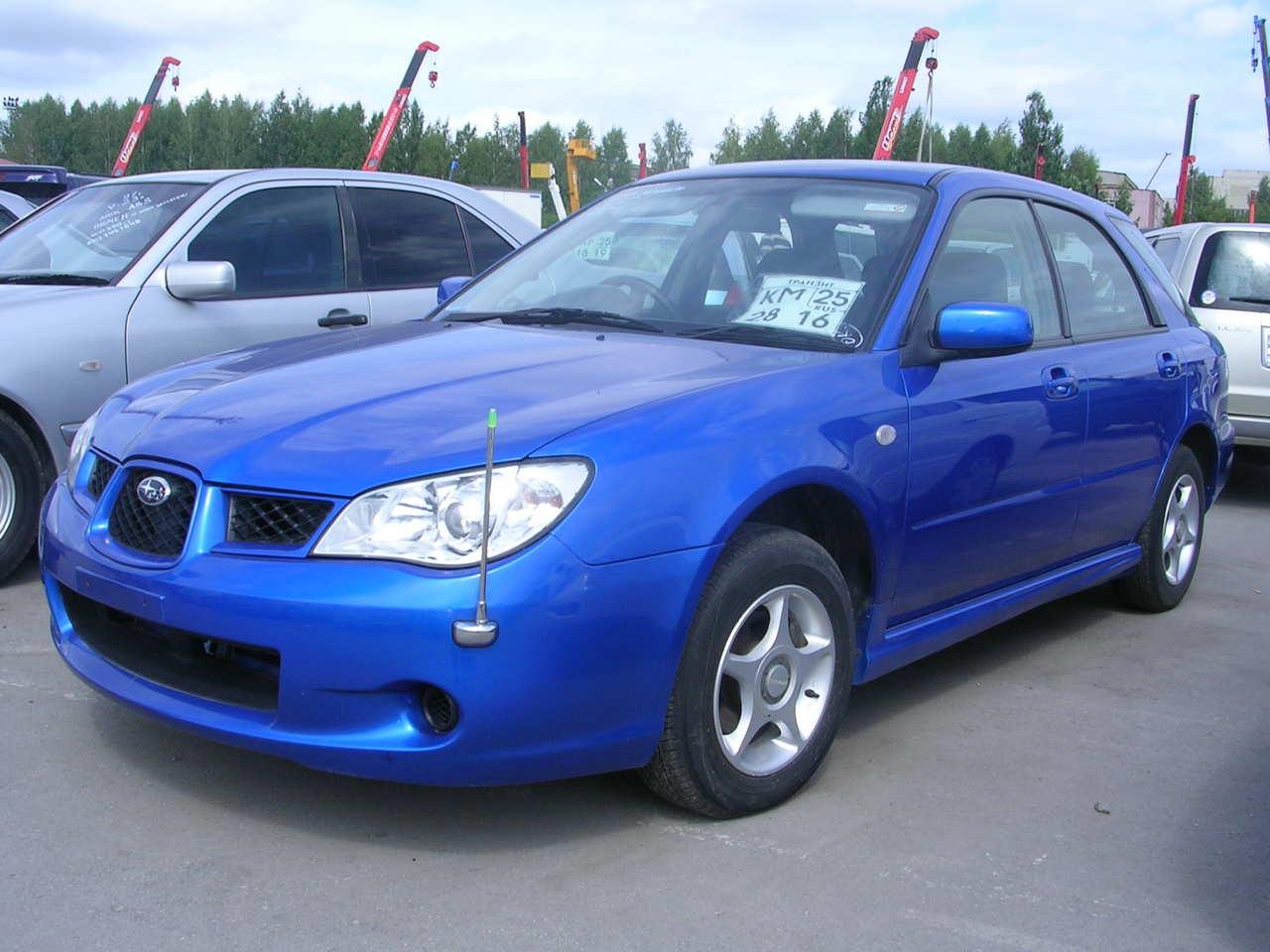 2006 Subaru Impreza Pictures 1 5l Gasoline Automatic