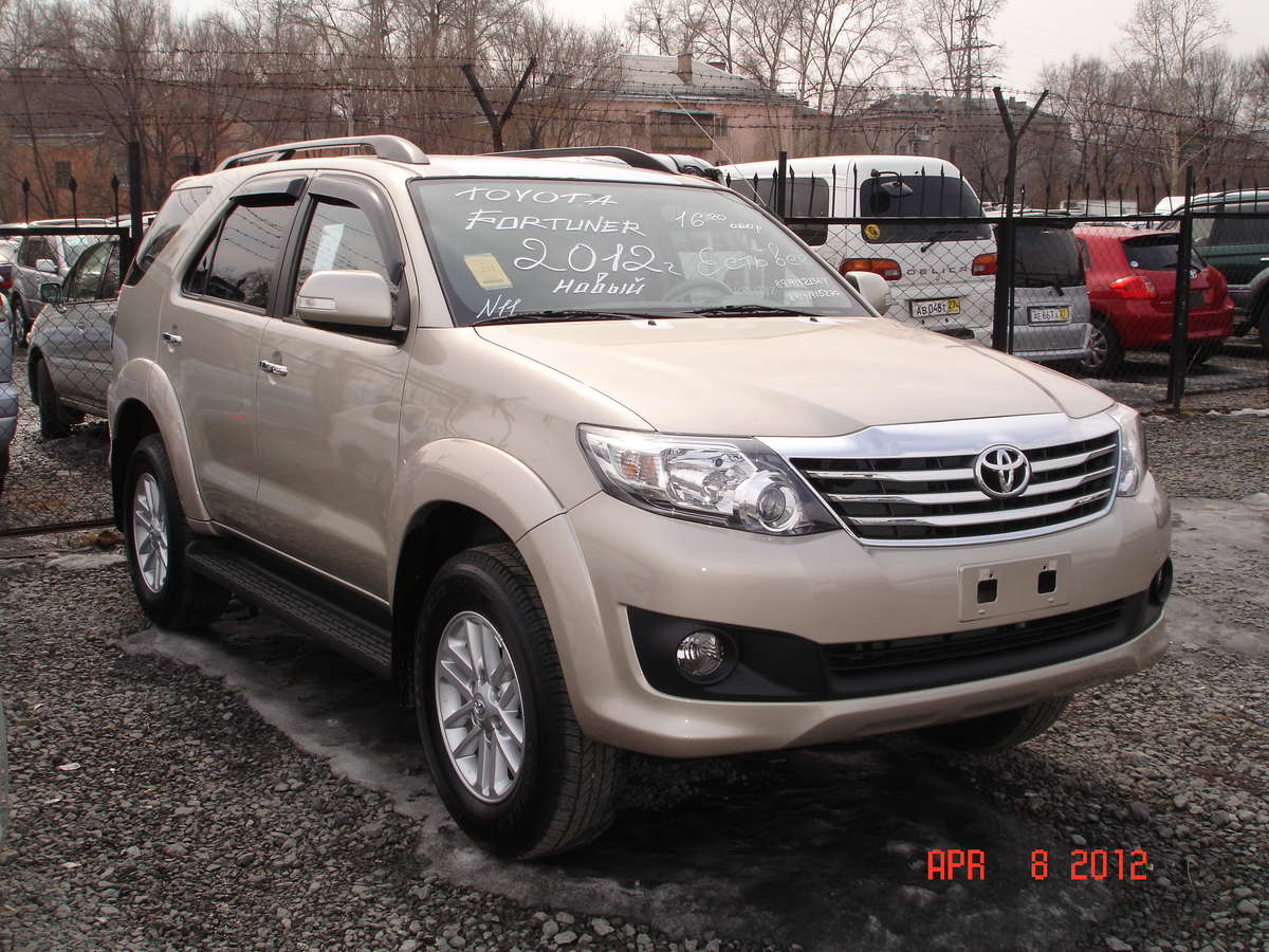 2012 Toyota Fortuner Pictures 2 7l Gasoline Automatic