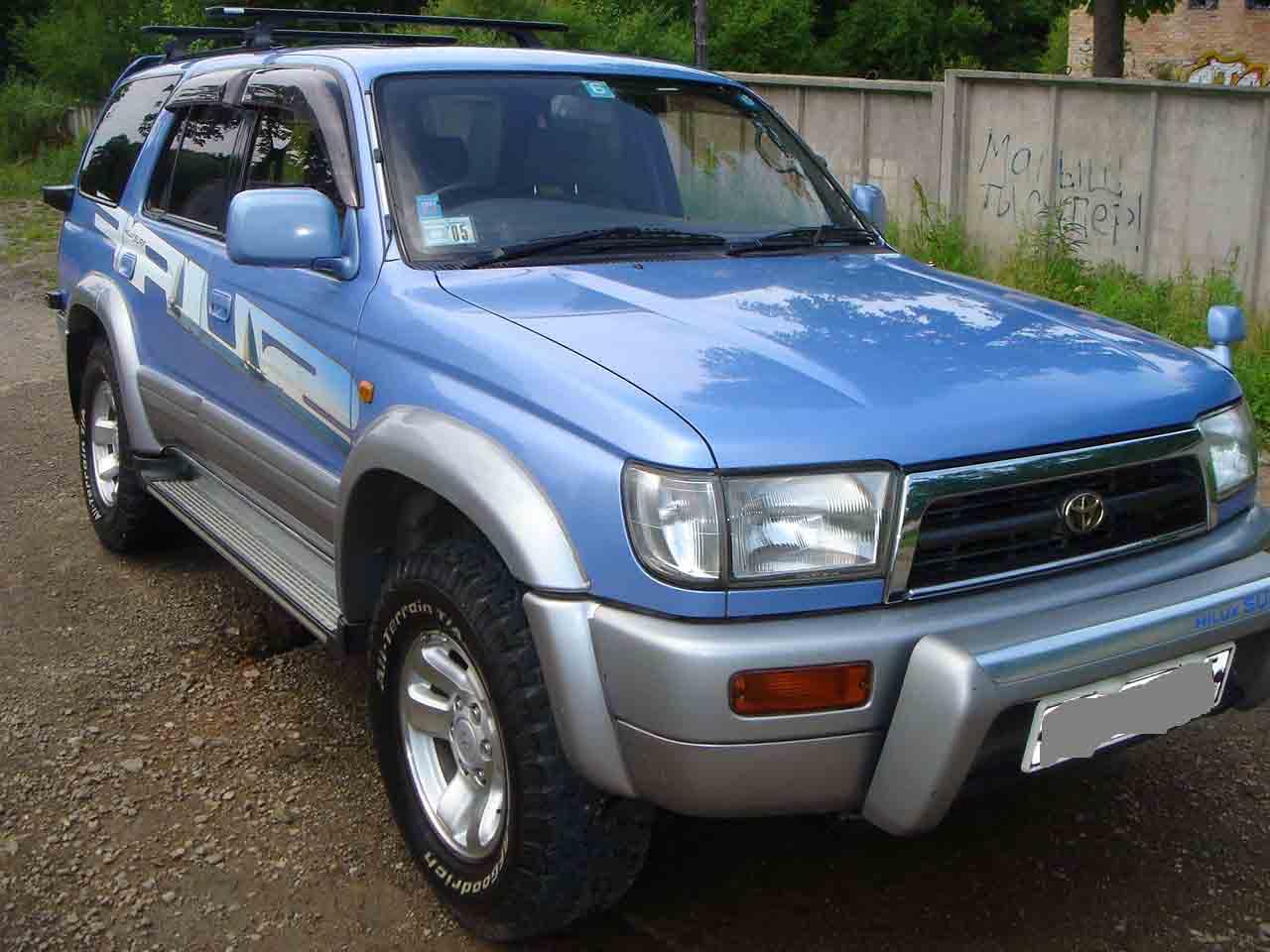 1996 Toyota Hilux Surf Specs  Engine Size 3400cm3  Fuel