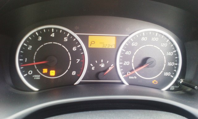 VSC OFF, TRAC OFF, ABS AND ENGINE CHECK LIGHTS ON / 2010
